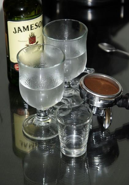 ír kávé előkészületek