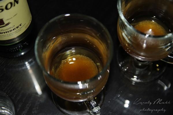 ír kávé előkészület