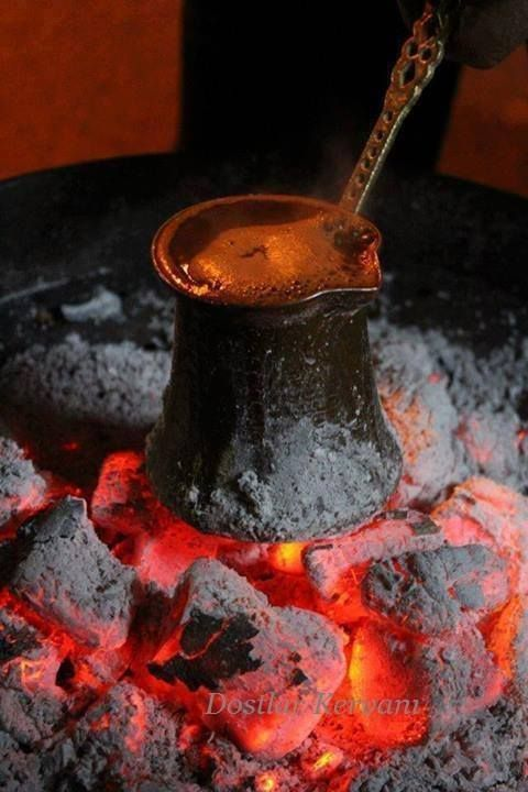 török kávé parázson