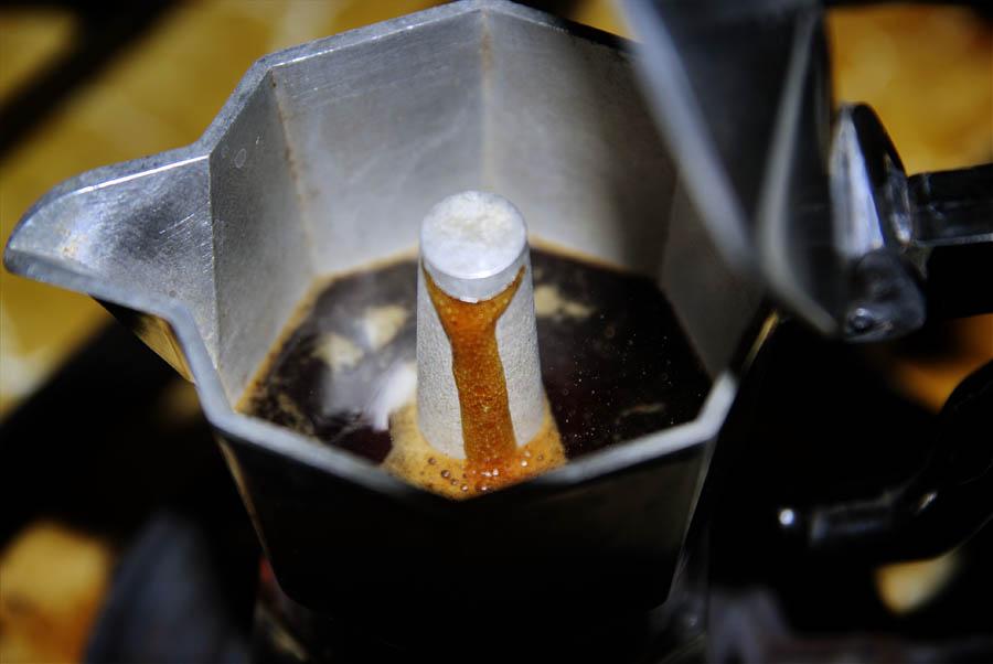 vintage bialetti moka express brew process