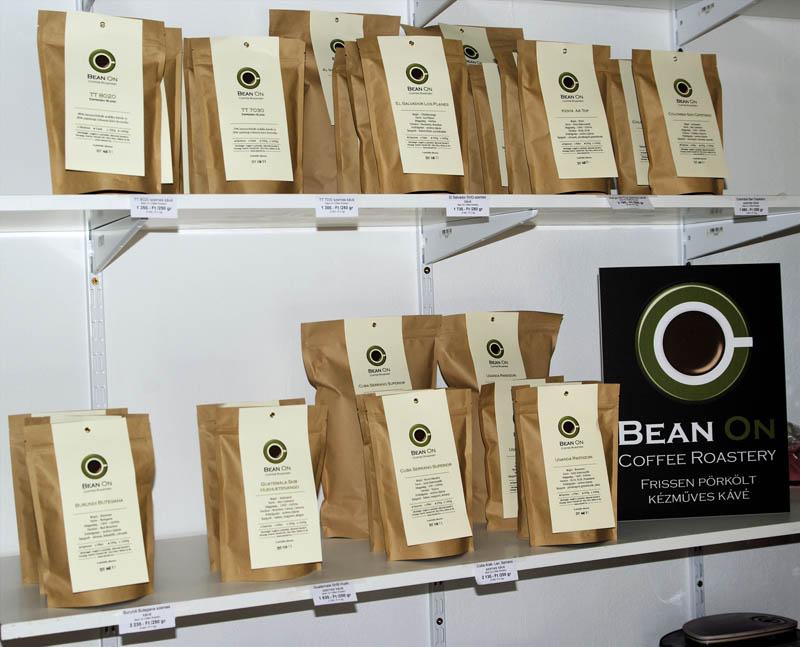 bean on roasted coffee