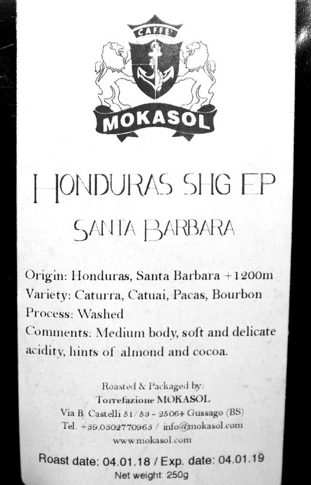 Mokasol Honduras label